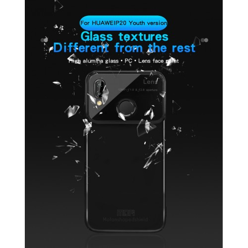 MOFI Shaped Shield Series Alumma Glass + PC Combo θήκη για  Huawei P20 Lite Χρώμα Μαύρο