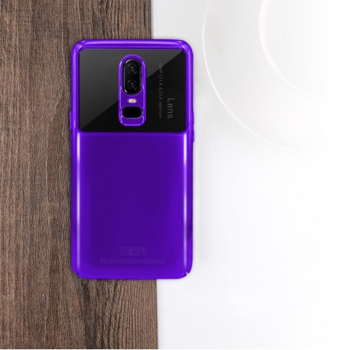 MOFI Shaped Shield Series Alumma Glass + PC Combo θήκη για OnePlus 6  Χρώμα Μωβ